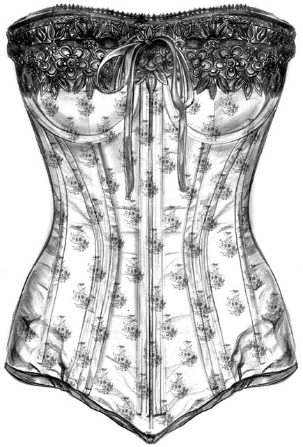 Clothes,Fashion,Corset,Illustration,