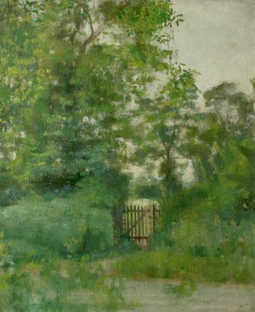thorsteinulf:  Victor Pasmore - Green Landscape with Gate (c.1943)