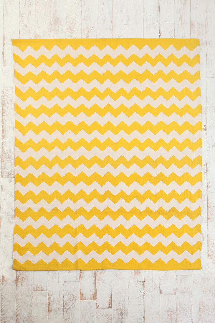 | Kids Room | Marketplace : Urban Outfitters Zig Zag Rug  Woven cotton rug topped with a zigzag print and stitched edges.