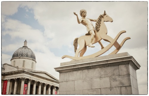 The 4th plinth at Trafalgar Square, London