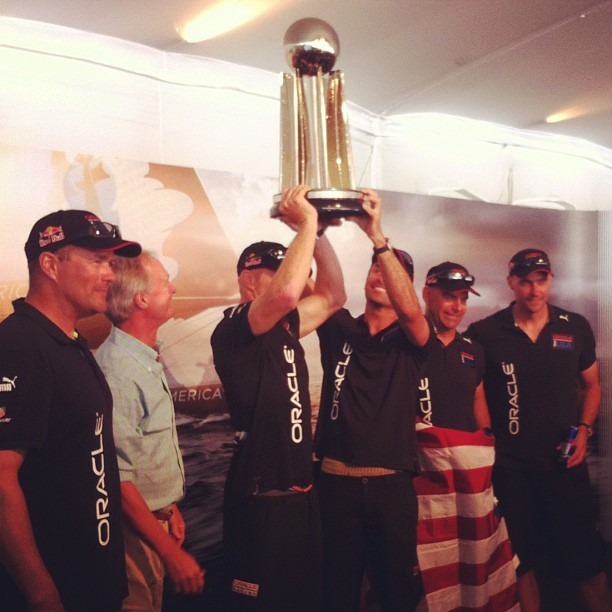 Congratulations @oracleracing winners of 2011-2012 AC World Series  (Taken with Instagram)