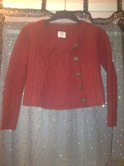 H&M red wool cardigan for sale