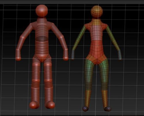 Been Zbrushing again, Sort of an hourly update of my Zsphere mesh before i sculpt it. Doing all dat anatomy stuff to it :D