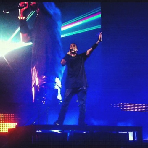 Watch The Throne. And at this point my life was made. Seeing Yeezy this close was the best. A living legend. Changing the way rap is viewed forever. A modern day Mozart, salute. #wealth #throne #king #lion #wtt #rocafella #royalty #concert #ye #yeezy #kanye #west (Taken with Instagram)