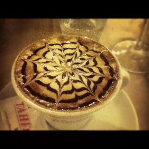 #latte #art #spider #web #cappuccino  (Taken with Instagram at Rome, Italy)