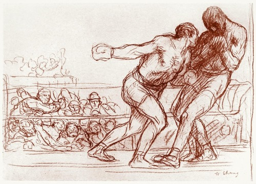 oldbookillustrations:  Study for Pugilists. William Strang, from Zeichnungen von William Strang (Drawings of William Strang), with an introduction by Hans Wolfgang Singer, Leipzig, 1912. (Source: archive.org)