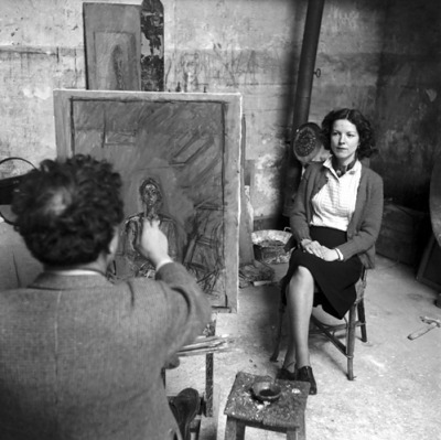 In the studio with Giacometti