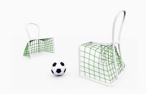 Lazy Soccer Chair by Emanuelle Magini
