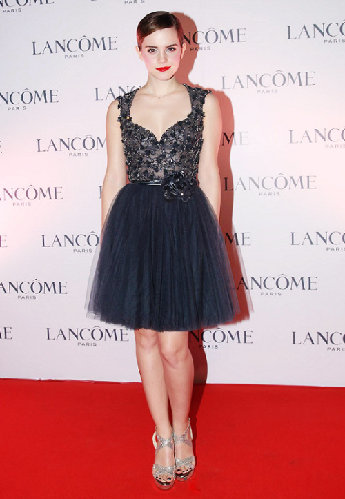 Red Carpet look of the day: (37/365) Emma Watson wearing a Elie Saab  dress at the Lancôme dinner in Hong Kong.