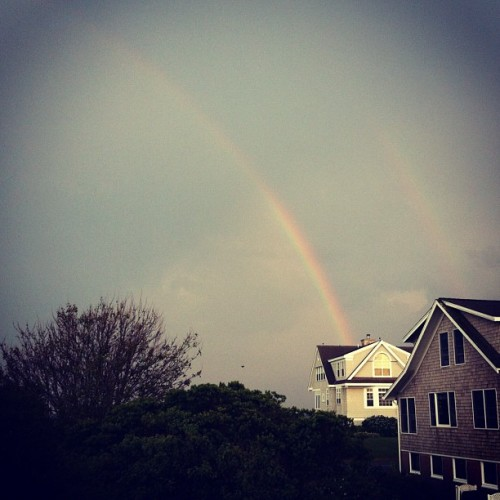 Double rainbow! (Taken with Instagram at Central Beach, Quonochontaug)
