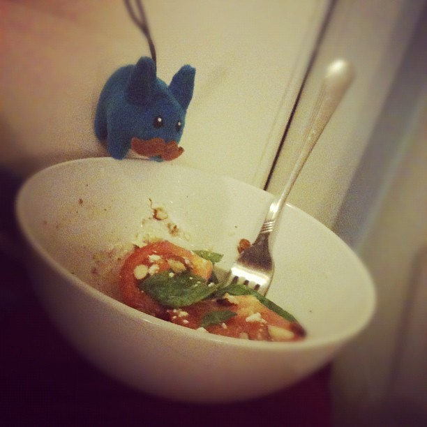 Someone wants my salad. (Taken with Instagram)