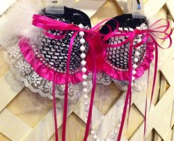 Custom Bras by Jaimi's Playhouse - $25.00 CUSTOM BRAS. You can also choose a theme. We'll need your bra size. Any details must be requested=) If you have any questions, contact me - Found on Storenvy