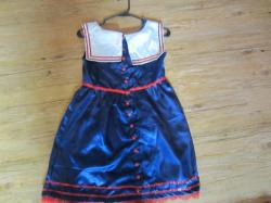 Sexy Sailor Costume by Jaimi's Playhouse - $50.00 front side a has bow in the middle. If you have a cup size of D then you will definitely be spilling out. It's a very thin silky material. . Never wore it. I think I was just so excited by how cute it was.. Trying to decide if I want to throw the sailor hat