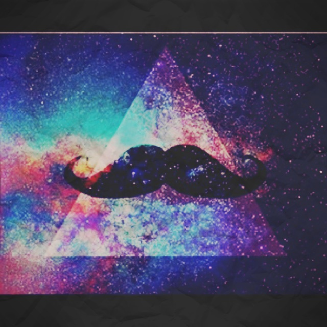 #mustache #triangle #nebula #mixed #colour #blue #purple #pink