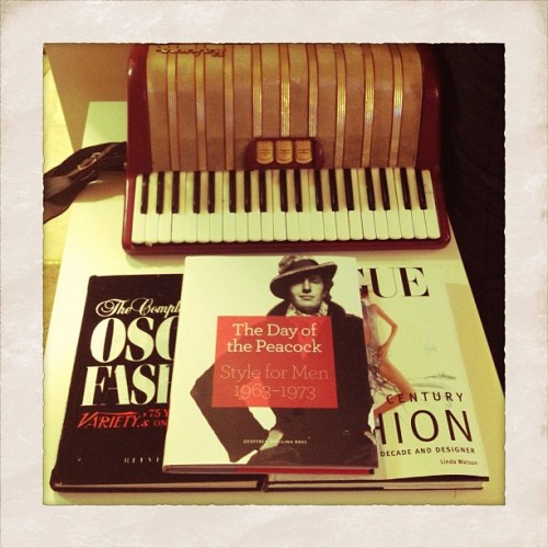 Accordion+coffee table books=adult apartment beginnings  (Taken with Instagram)