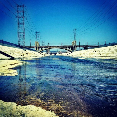 The infamous LA river, 6th street bridge #LA #river #theprimesuspects  (Taken with Instagram)