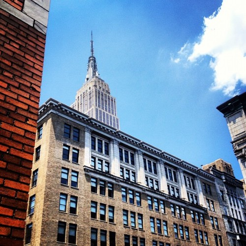 Empire state building from our balcony.  (Taken with Instagram)