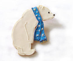 ccc:  Polar Bear Cookies, Holiday Cookies by Rolling Pin Productions
