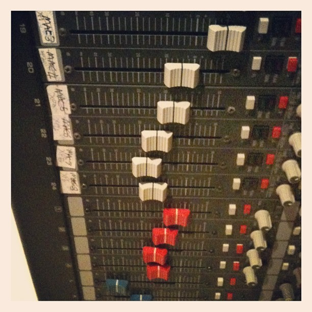 Acres of faders. (Taken with Instagram at mi casa)