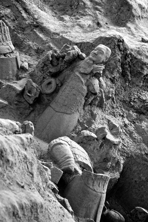 Defeated Terra Cotta Warrior. Xi'an, China.