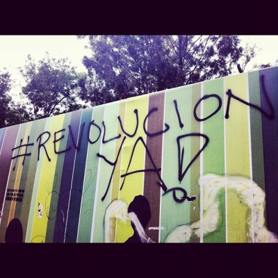 Election graffiti in #mexicocity #yosoy132  (Taken with Instagram)