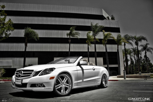 2010 MBZ E350 Coupe Convertible on Concept One Executive RS-55 on Flickr.