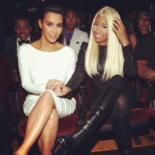 Kim Kardashian and Nicki Minaj at BET Awards