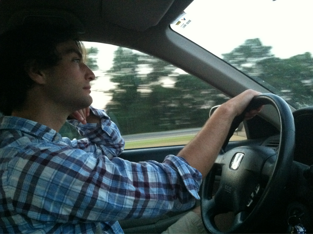 this man can drive.