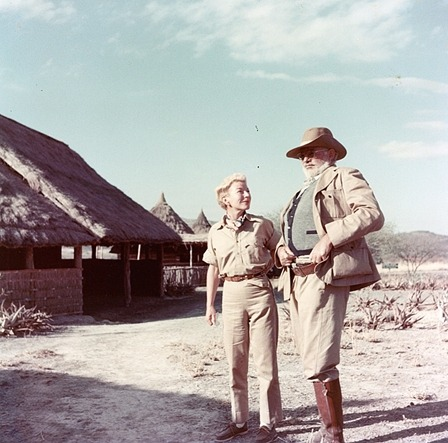 Ernest and Mary Hemingway on safari, 1953-54. via The Ernest Hemingway Collection