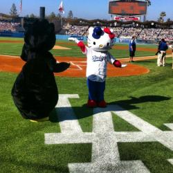 Hello Kitty @ Dodger Stadium!!! Hope this is what we need to end the losing streak. Go Dodgers!!