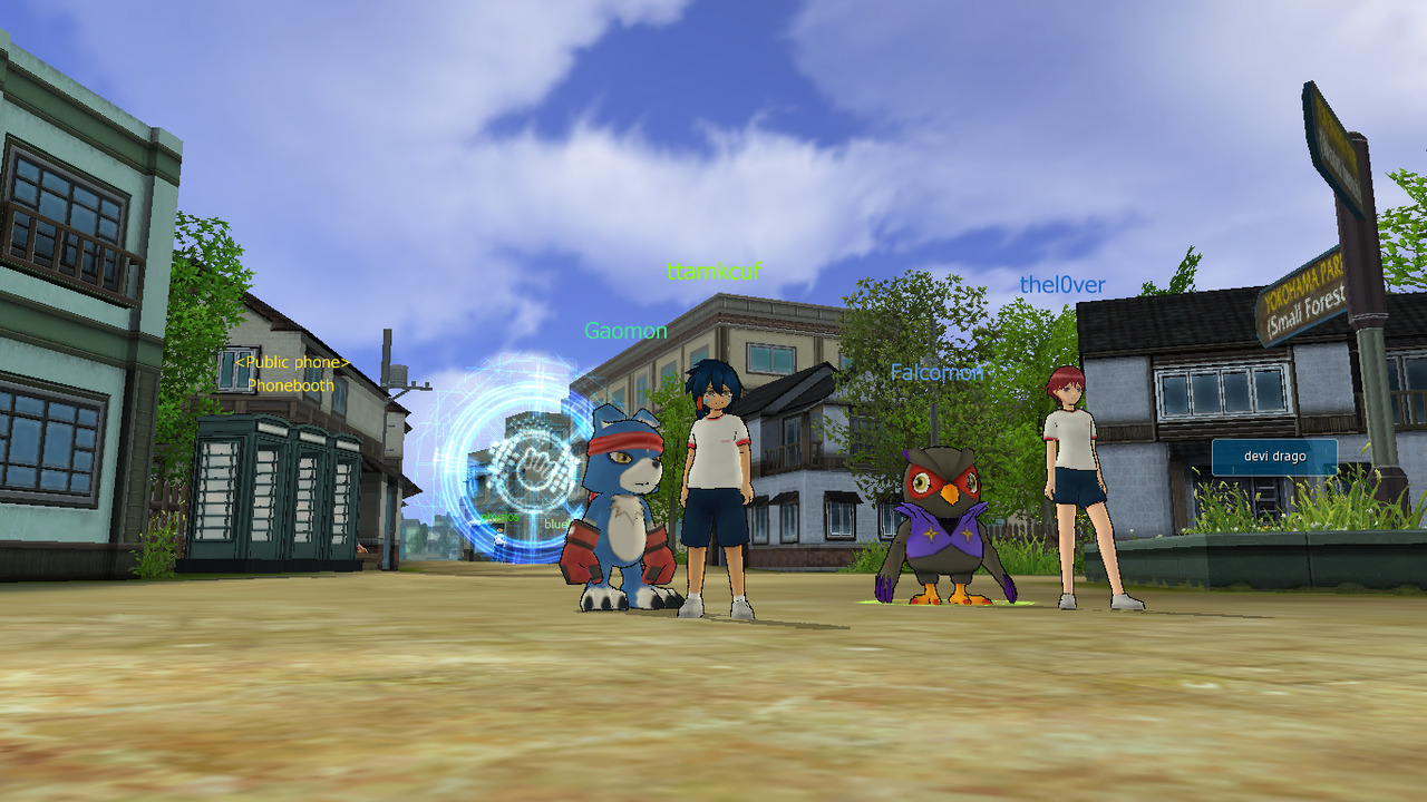 playing digimon world with duh boo.