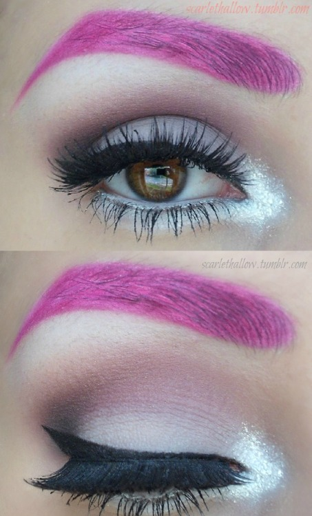 makeupftw:  Madame Deficit Inspired :) I have makeupbee and tumblr if anyone wants to be makeup buddies :D xx