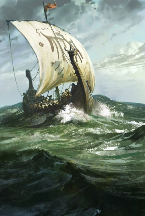 defenestrador:  Viking Ship, by Karl Simon.