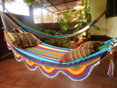 Colorful and Comfy Handmade Hammock by Hamanica on Etsy. http://www.etsy.com/listing/83682493/white-multicolor-hammock-double-hammock