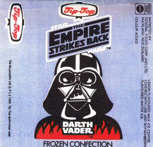 swnz:  1980 :: Empire Strikes Back ice-block wrapper. http://swnz.dr-maul.com/moretext.php?request=coll_tiptopesb  This would be the perfect treat for a hot day like today.
