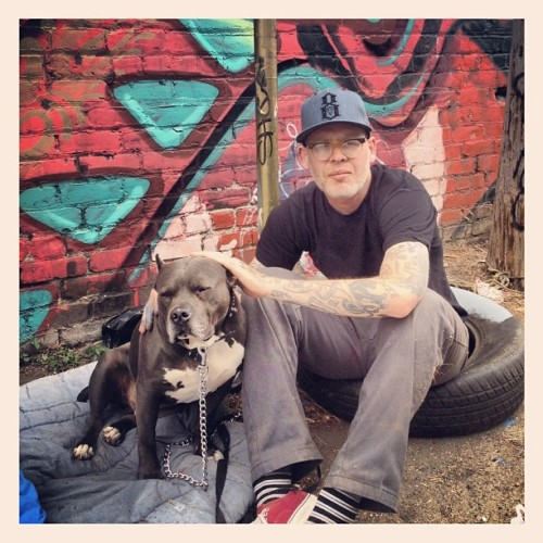 Giant and Diablo #pitbull #mansbestfriend #oakland #solanoalley  (Taken with Instagram)