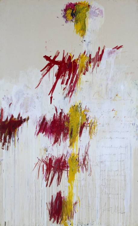 artpedia:  Cy Twombly - Quattro Stagioni: Primavera, 1993-5. Acrylic, oil, crayon, and pencil on canvas