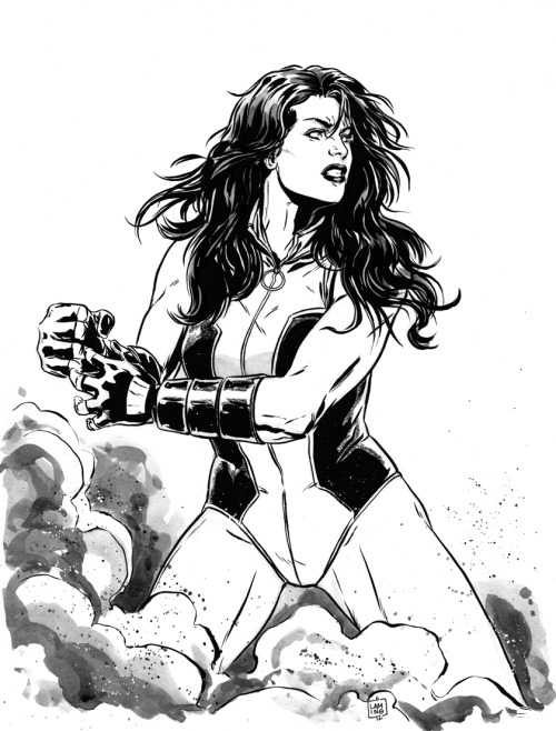 thehappysorceress:  She-Hulk by Marc Laming