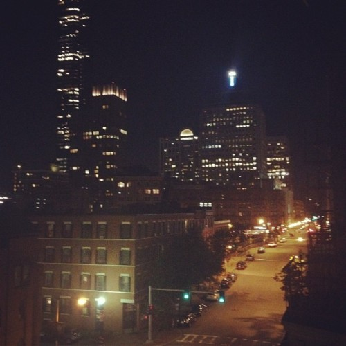 A city love, #Boston by night. (Taken with Instagram)