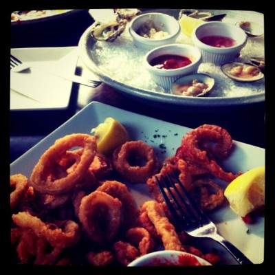 #calamari #clams #nomnomnom (Taken with Instagram)