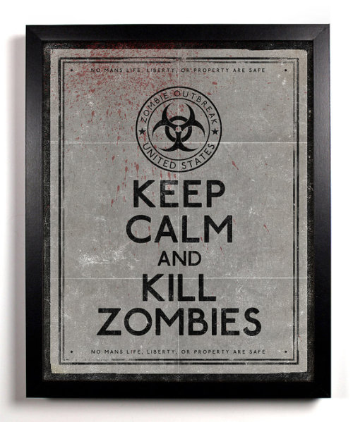 Keep Calm and Kill Zombies black and white by KeepCalmAndStayGold. $8.99
