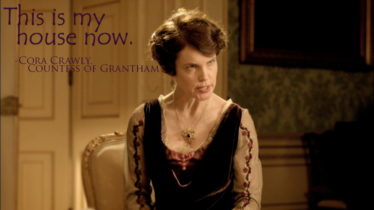 Angry Lady Grantham can kick your ass…