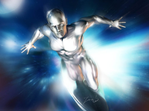 Silver Surfer by *MarcelZero I've always been curious about the Silver Surfer. I think I need to read his back story.