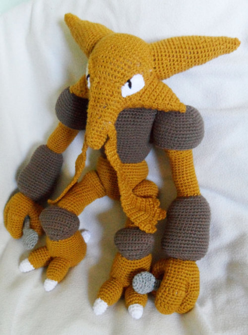 Crochet Alakazam Pokemon by TheQuaintCuddleFish. $90