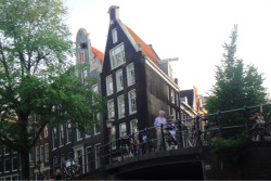 Amsterdam and its wacky angles.