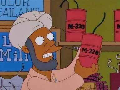 "mmmsimpsons:  ""Any red-blooded, flag-fearing American would love the M-320. Celebrate the independence of your nation by blowing up a small part of it."""
