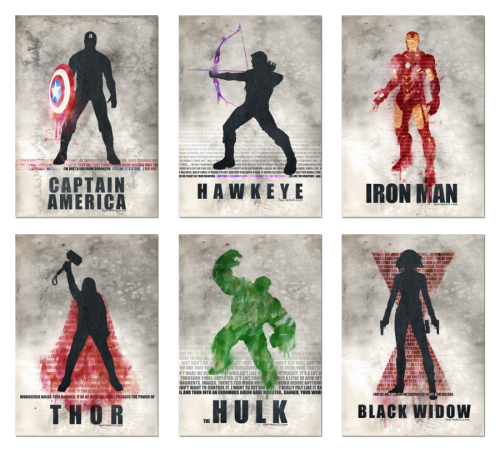 AVENGERS! by ~koroa I really like the stark simplicity of these.
