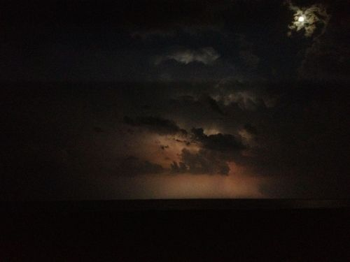 Lightning over the Atlantic from the beach in Ventnor, New Jersey.