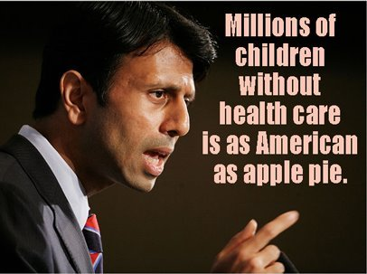 "christopherstreet:  Governor Piyush ""Bobby"" Jindal stands proud Louisiana is 48th in states ranking of uninsured children."