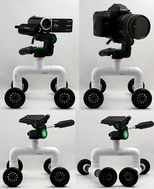 photojojo:  Martin Taylor made this surprisingly simple PVC pipe camera dolly! The whole set up comes to a mere $12, so how could you pass it up? Head over to DIY Photography to read the step by step walk through! DIY PVC Pipe Camera Dolly via Reddit